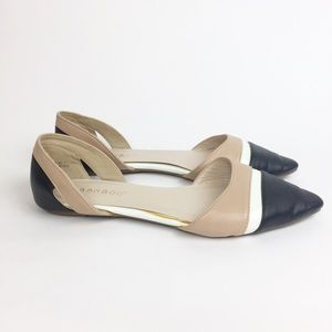 Bamboo Flat Shoe Size 7 Nude Point-toe Classic